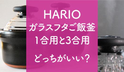 【ハリオご飯釜】こびりつきや1合と3合の違い、メリット・デメリットは?