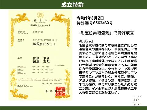 スーナバイオショット特許成立