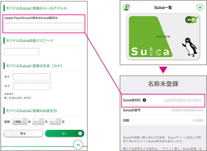 JRE POINTサイトでモバイルSuica登録方法