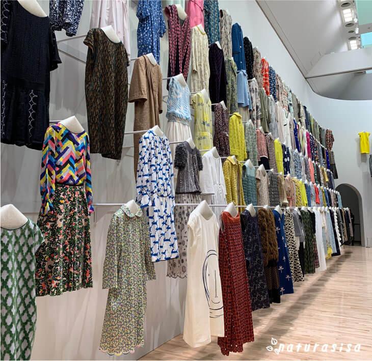 ミナペルホネン展覧会のお洋服