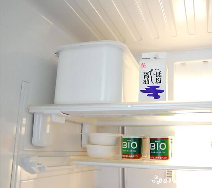野田琺瑯ぬか漬け美人を冷蔵庫に保存