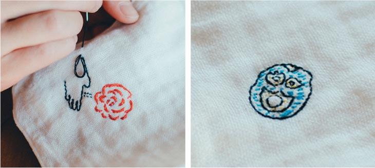 Giitonハンカチ刺繍キット